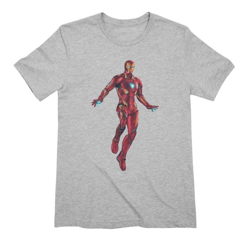 Bleeding Edge Iron Man Men's T-Shirt by Laurie's Artist Shop