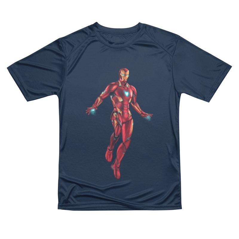 Bleeding Edge Iron Man Women's Performance Unisex T-Shirt by Laurie's Artist Shop