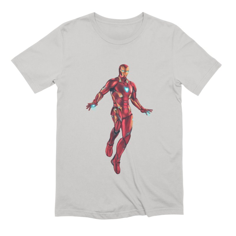 Bleeding Edge Iron Man Men's Extra Soft T-Shirt by Laurie's Artist Shop