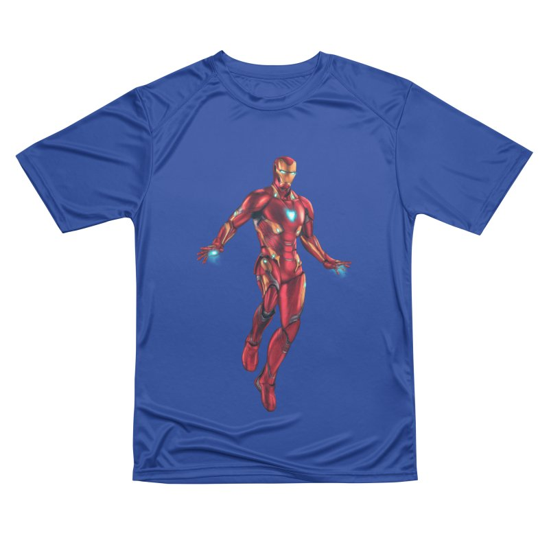 Bleeding Edge Iron Man Men's Performance T-Shirt by Laurie's Artist Shop