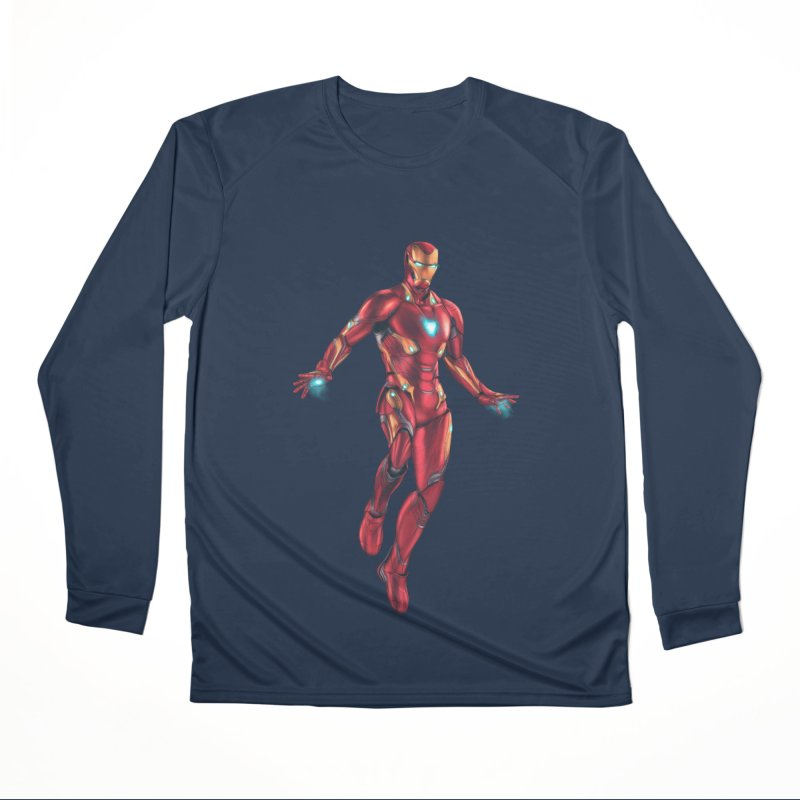 Bleeding Edge Iron Man Men's Performance Longsleeve T-Shirt by Laurie's Artist Shop