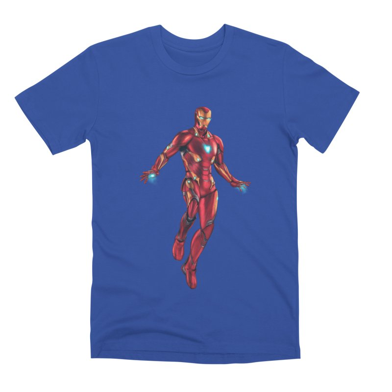 Bleeding Edge Iron Man Men's T-Shirt by Laurie's Artist Shop