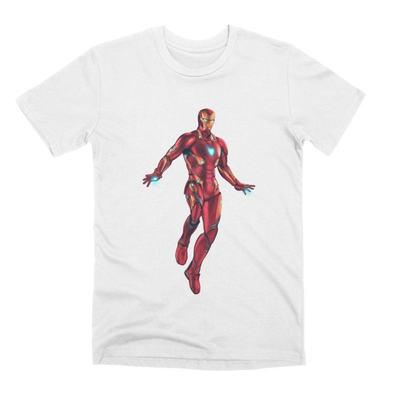 Bleeding Edge Iron Man Men's Premium T-Shirt by Laurie's Artist Shop