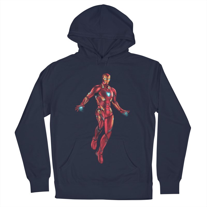 Bleeding Edge Iron Man Men's French Terry Pullover Hoody by Laurie's Artist Shop