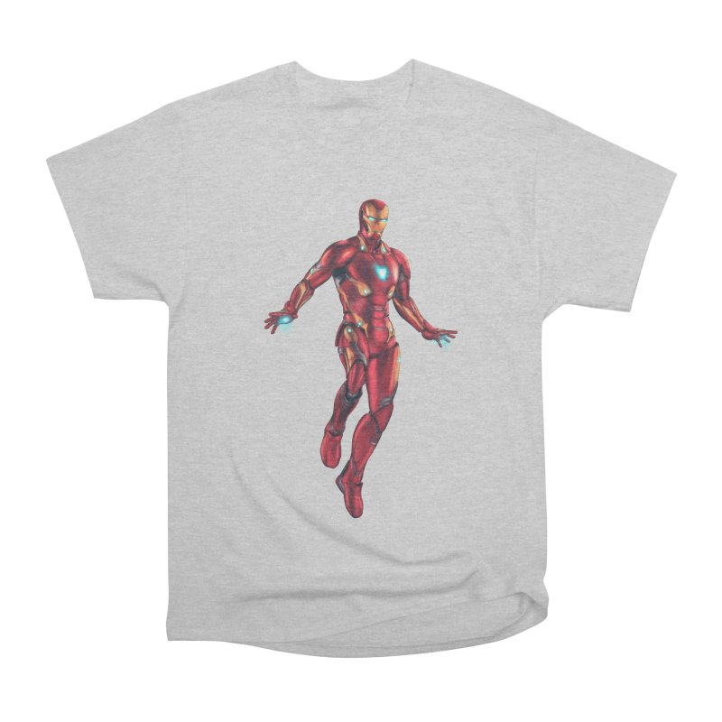 Bleeding Edge Iron Man Women's Heavyweight Unisex T-Shirt by Laurie's Artist Shop