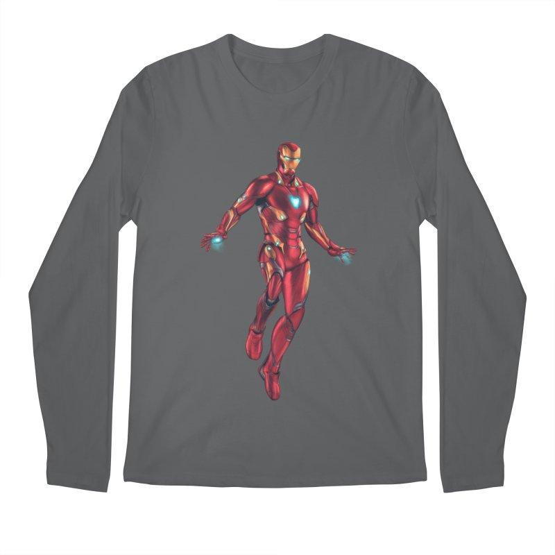 Bleeding Edge Iron Man Men's Regular Longsleeve T-Shirt by Laurie's Artist Shop