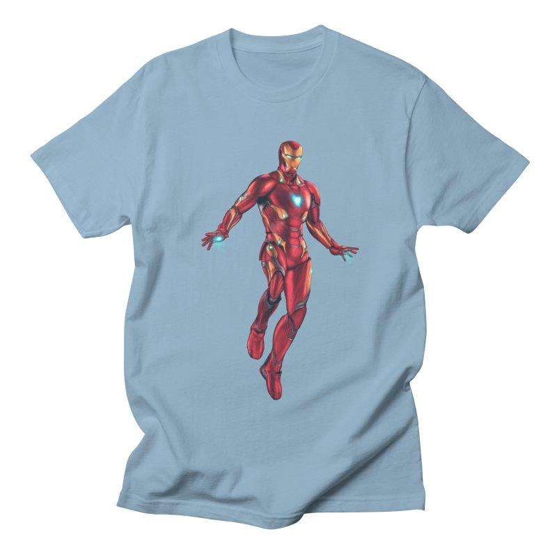 Bleeding Edge Iron Man Women's Regular Unisex T-Shirt by Laurie's Artist Shop