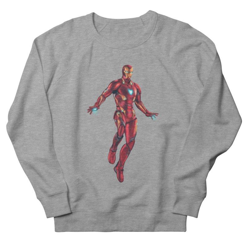 Bleeding Edge Iron Man Women's French Terry Sweatshirt by Laurie's Artist Shop