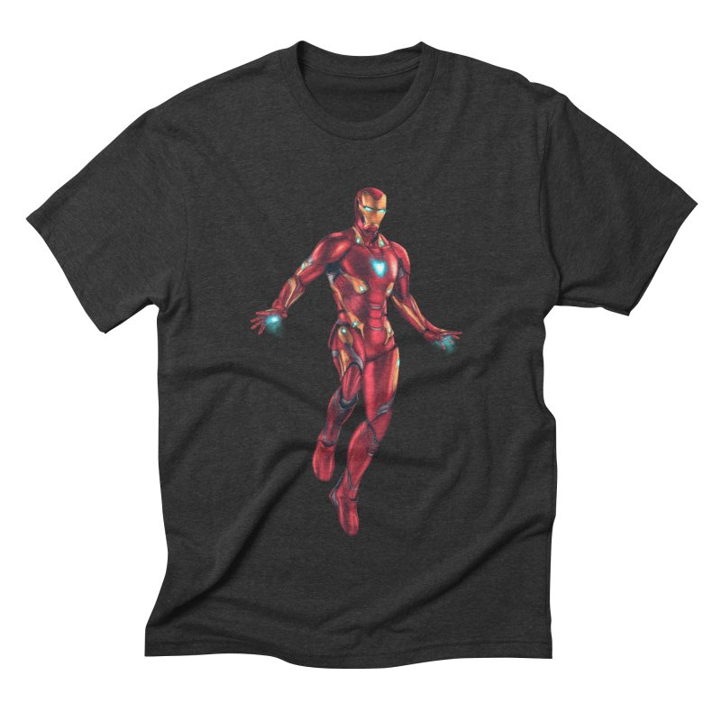 Bleeding Edge Iron Man Men's Triblend T-Shirt by Laurie's Artist Shop