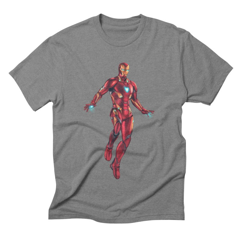 Bleeding Edge Iron Man Men's Triblend T-Shirt by Laurie's Artist Shop