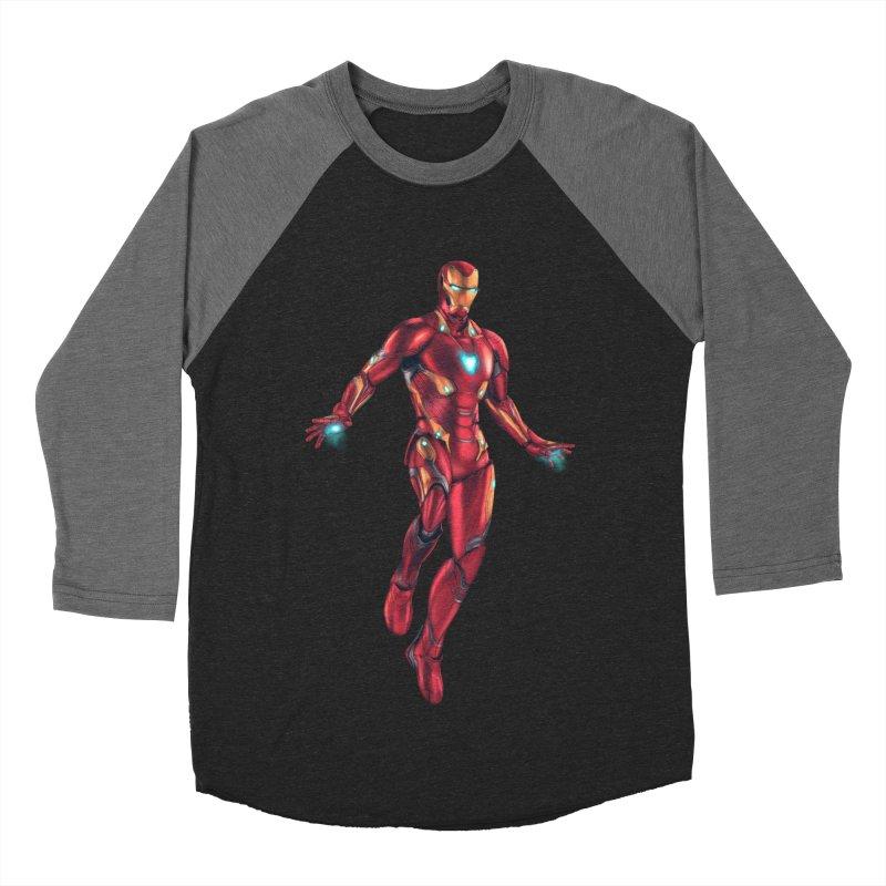 Bleeding Edge Iron Man Women's Baseball Triblend Longsleeve T-Shirt by Laurie's Artist Shop