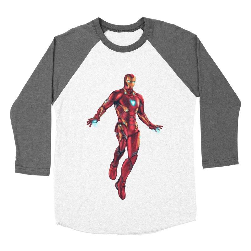 Bleeding Edge Iron Man Men's Baseball Triblend Longsleeve T-Shirt by Laurie's Artist Shop