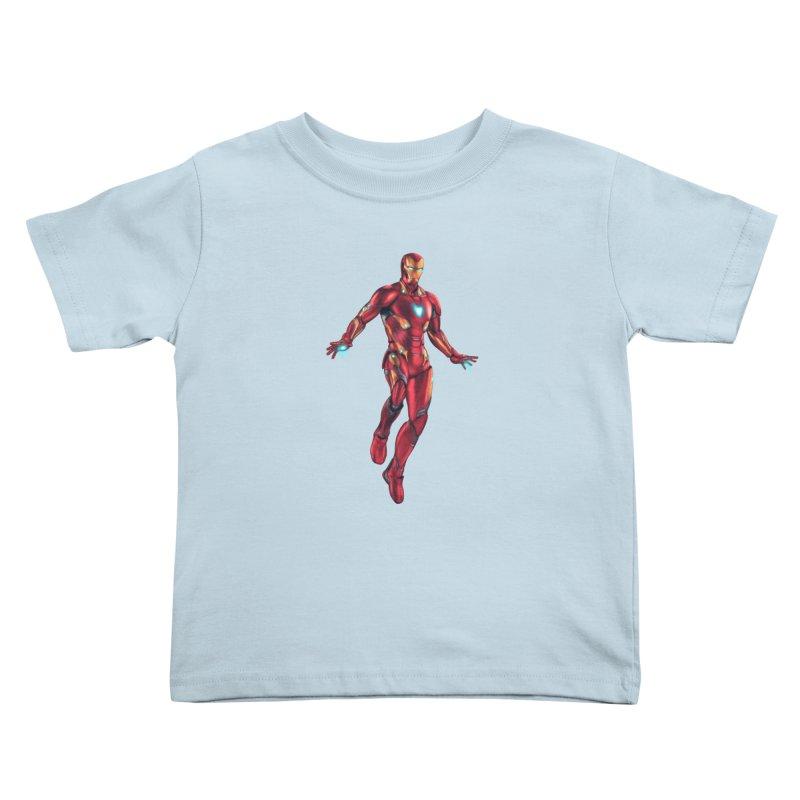 Bleeding Edge Iron Man Kids Toddler T-Shirt by Laurie's Artist Shop