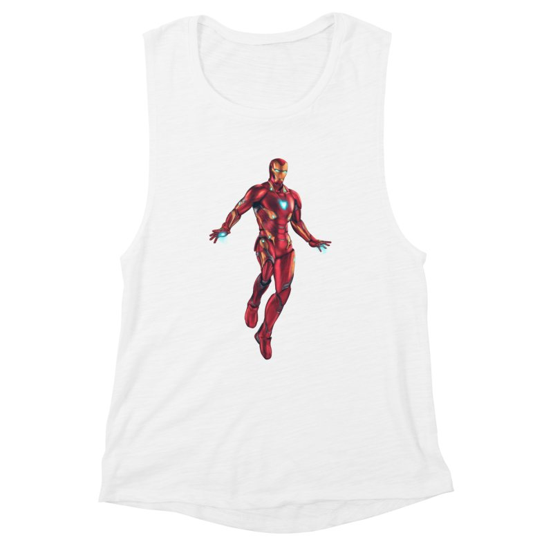 Bleeding Edge Iron Man Women's Muscle Tank by Laurie's Artist Shop