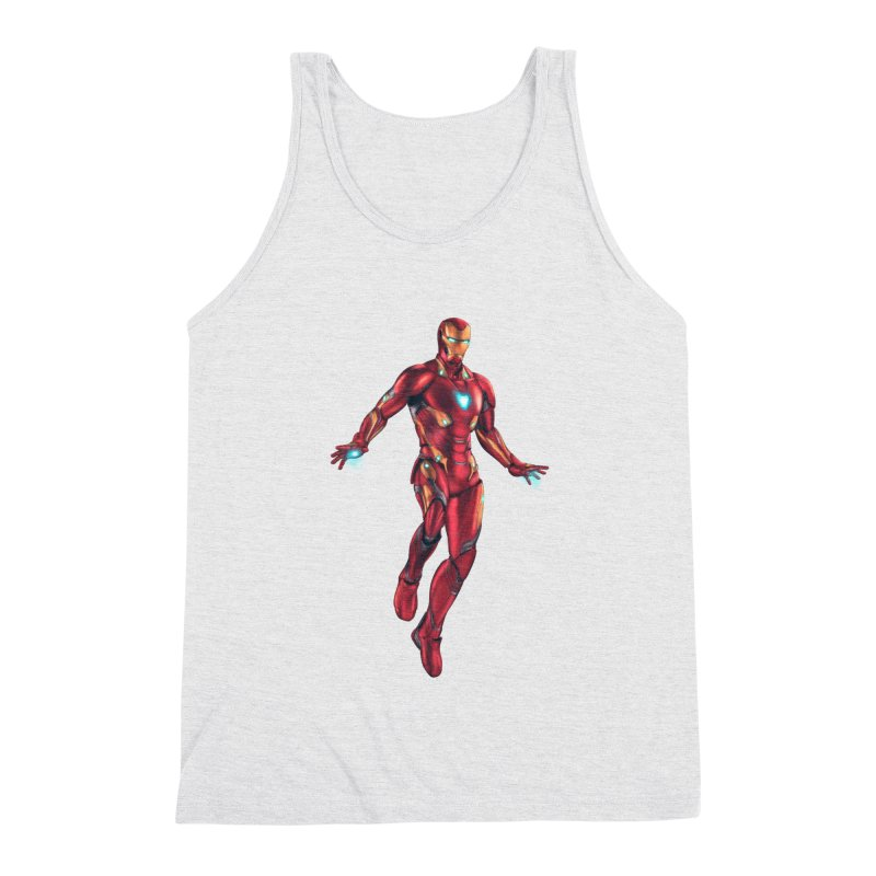 Bleeding Edge Iron Man Men's Triblend Tank by Laurie's Artist Shop