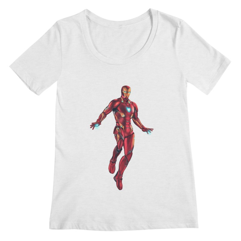 Bleeding Edge Iron Man Women's Regular Scoop Neck by Laurie's Artist Shop