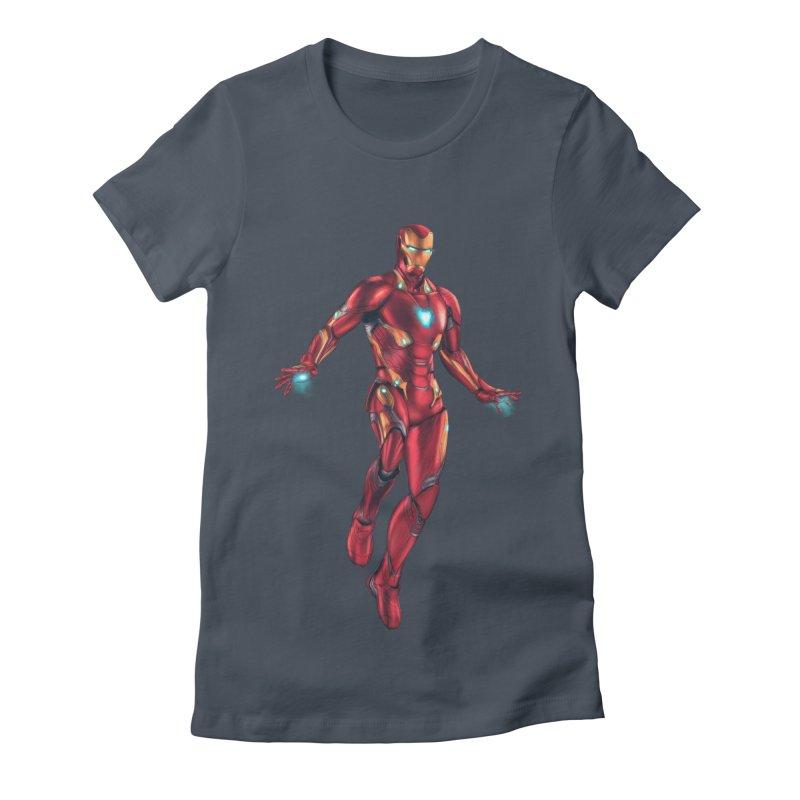 Bleeding Edge Iron Man Women's T-Shirt by Laurie's Artist Shop