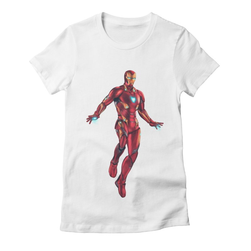 Bleeding Edge Iron Man Women's Fitted T-Shirt by Laurie's Artist Shop