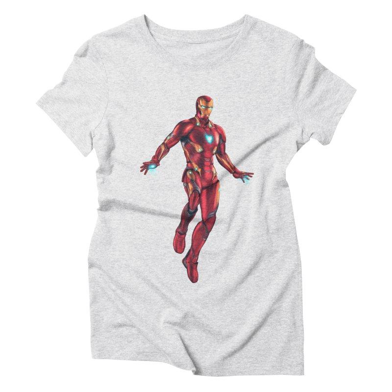 Bleeding Edge Iron Man Women's Triblend T-Shirt by Laurie's Artist Shop