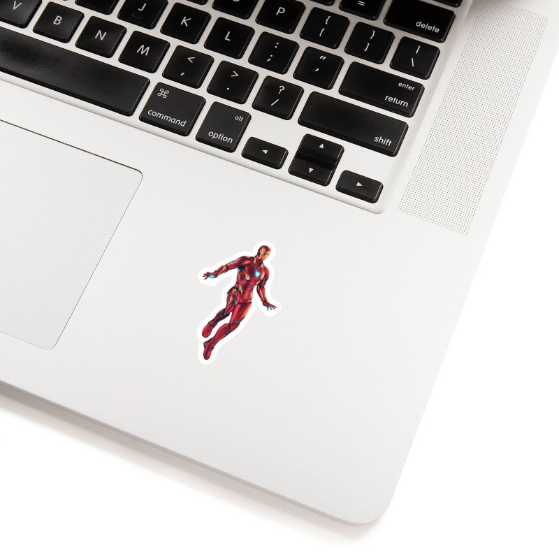 Bleeding Edge Iron Man Accessories Sticker by Laurie's Artist Shop
