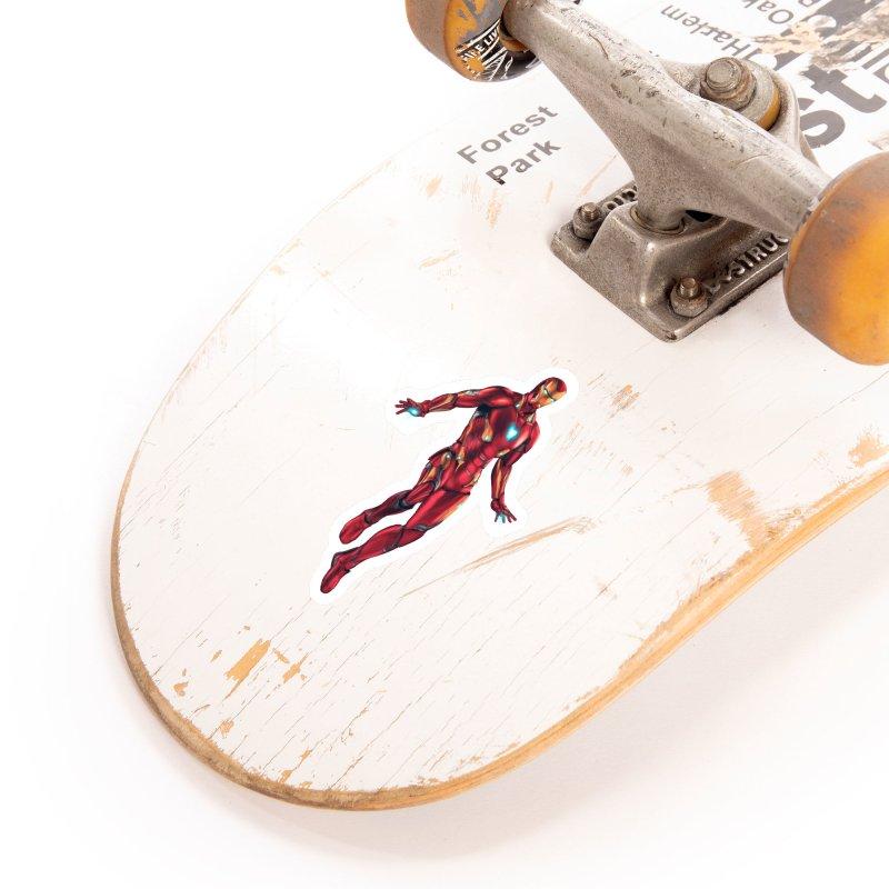 Bleeding Edge Iron Man Accessories Sticker by Laurie's Artist Shop