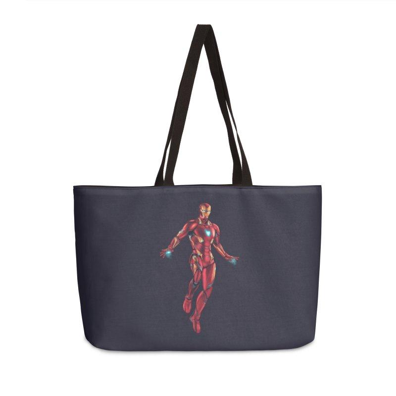 Bleeding Edge Iron Man Accessories Weekender Bag Bag by Laurie's Artist Shop