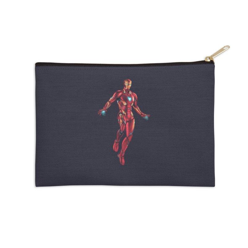 Bleeding Edge Iron Man Accessories Zip Pouch by Laurie's Artist Shop