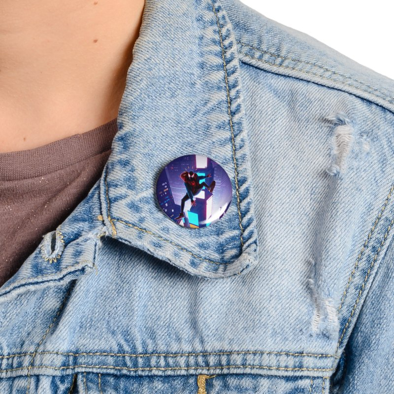 Miles into the Spider-Verse Accessories Button by Laurie's Artist Shop