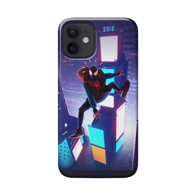Miles into the Spider-Verse Accessories Phone Case by Laurie's Artist Shop