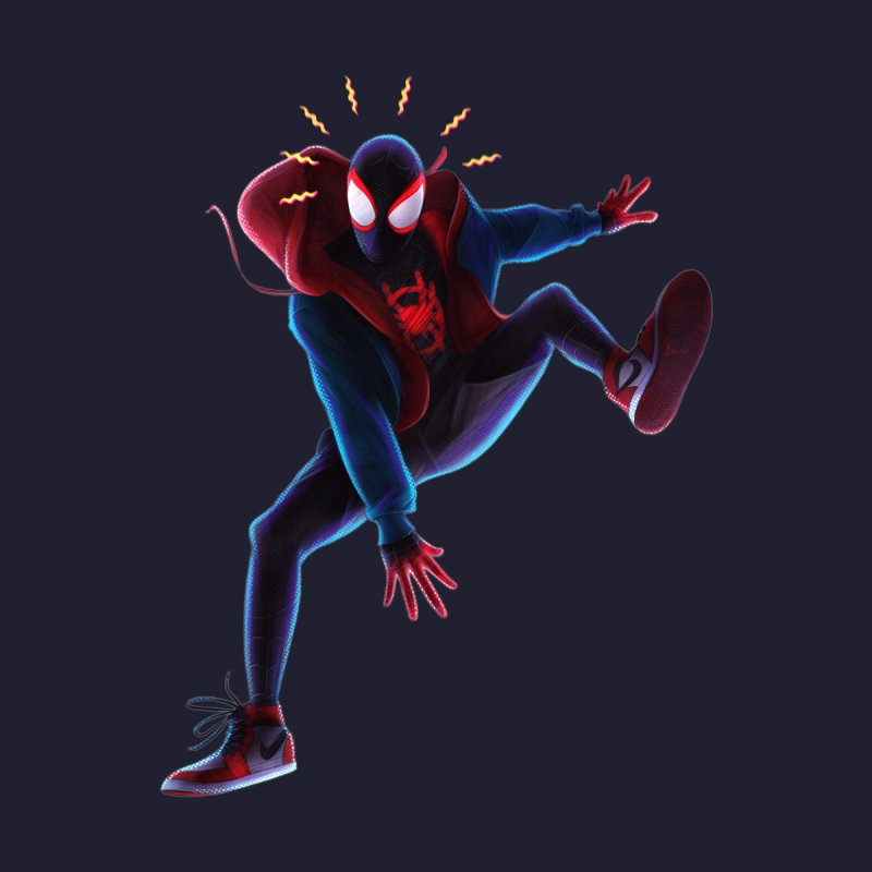 Miles into the Spider-Verse Men's Sweatshirt by Laurie's Artist Shop