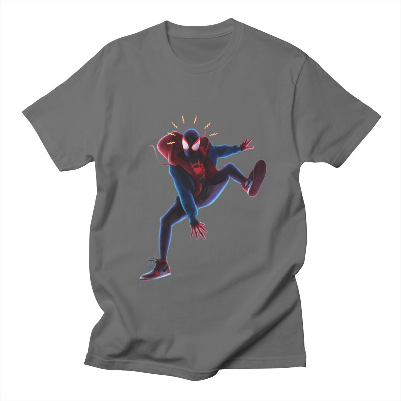 Miles into the Spider-Verse Men's T-Shirt by Laurie's Artist Shop