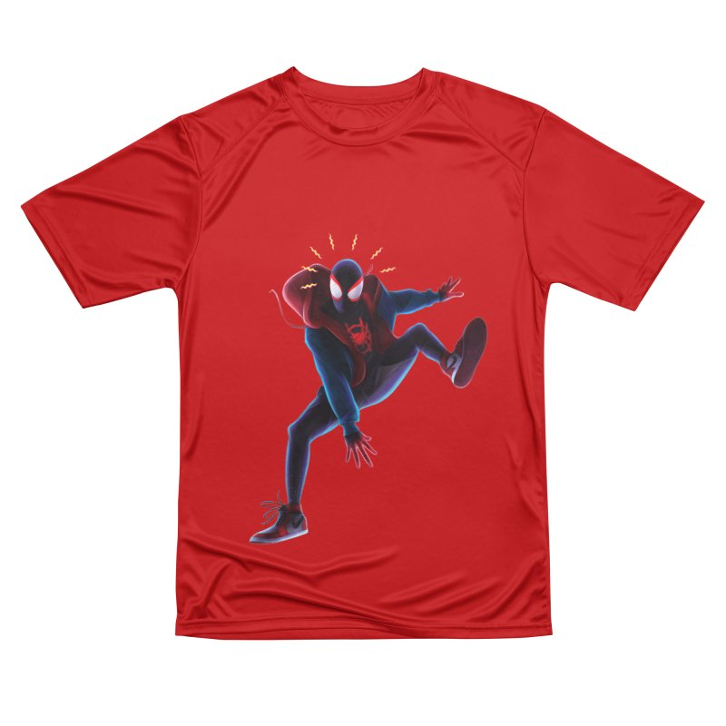 Miles into the Spider-Verse Women's Performance Unisex T-Shirt by Laurie's Artist Shop