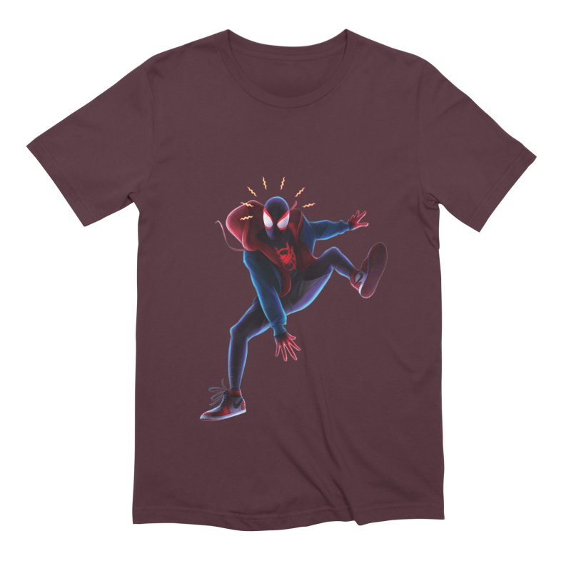 Miles into the Spider-Verse Men's Extra Soft T-Shirt by Laurie's Artist Shop