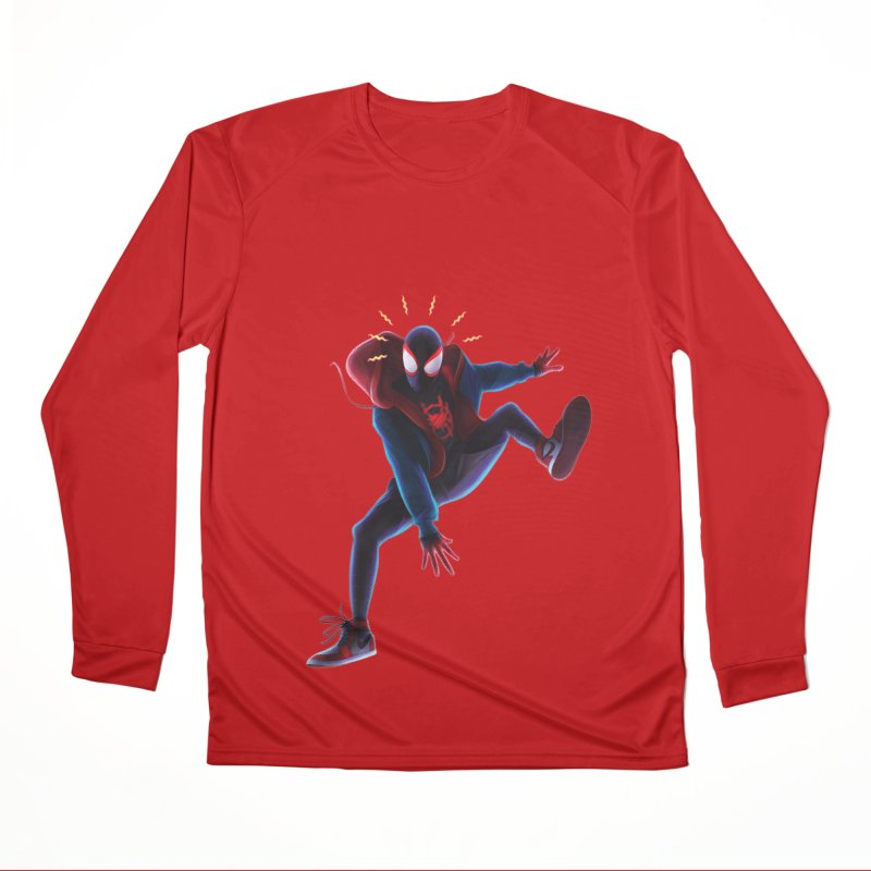 Miles into the Spider-Verse Men's Performance Longsleeve T-Shirt by Laurie's Artist Shop