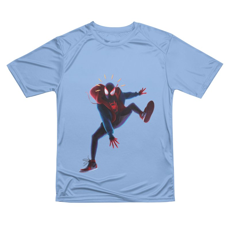 Miles into the Spider-Verse Women's T-Shirt by Laurie's Artist Shop