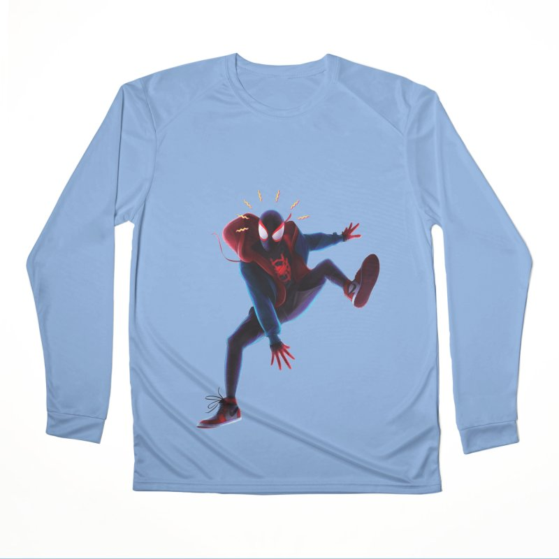 Miles into the Spider-Verse Women's Performance Unisex Longsleeve T-Shirt by Laurie's Artist Shop