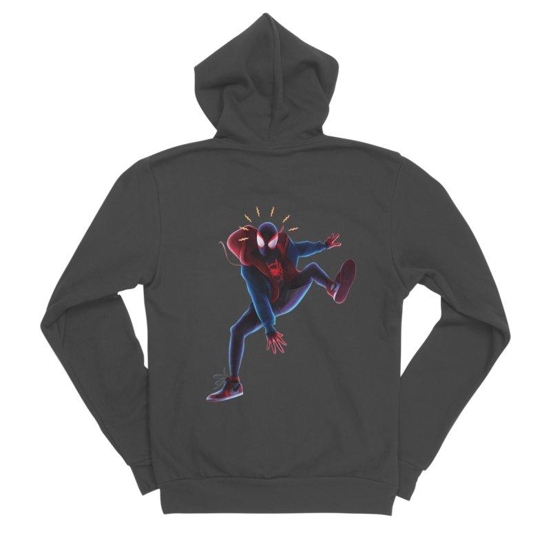 Miles into the Spider-Verse Women's Sponge Fleece Zip-Up Hoody by Laurie's Artist Shop