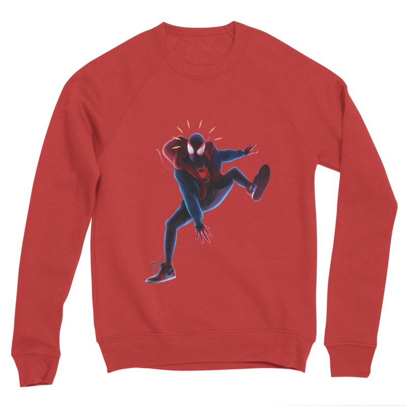 Miles into the Spider-Verse Men's Sponge Fleece Sweatshirt by Laurie's Artist Shop