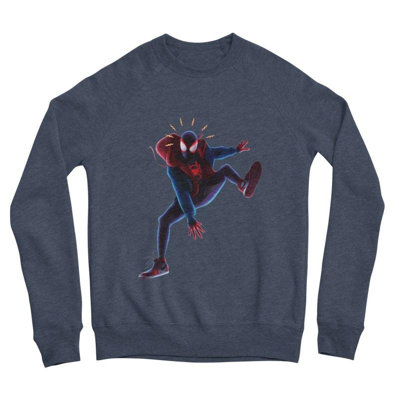 Miles into the Spider-Verse Women's Sponge Fleece Sweatshirt by Laurie's Artist Shop