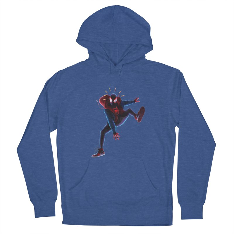 Miles into the Spider-Verse Men's French Terry Pullover Hoody by Laurie's Artist Shop