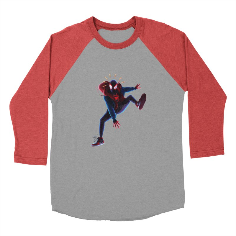 Miles into the Spider-Verse Men's Longsleeve T-Shirt by Laurie's Artist Shop