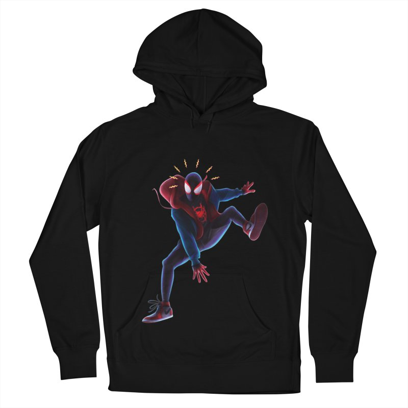 Miles into the Spider-Verse Women's French Terry Pullover Hoody by Laurie's Artist Shop