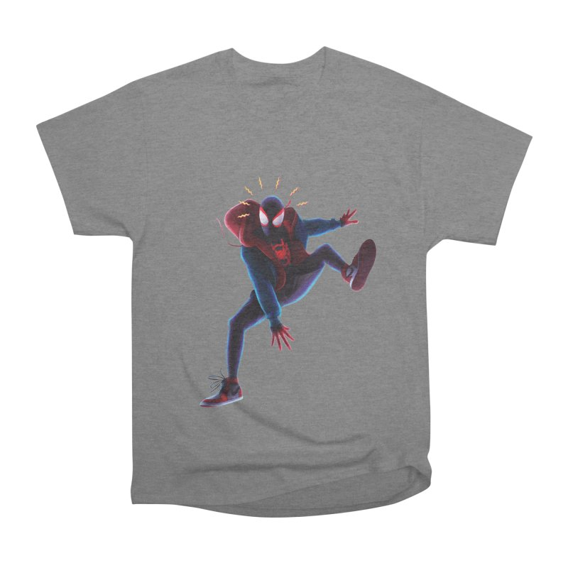 Miles into the Spider-Verse Women's Heavyweight Unisex T-Shirt by Laurie's Artist Shop