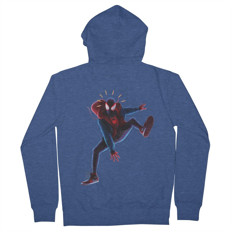 Miles into the Spider-Verse Women's French Terry Zip-Up Hoody by Laurie's Artist Shop