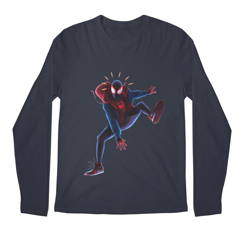 Miles into the Spider-Verse Men's Regular Longsleeve T-Shirt by Laurie's Artist Shop