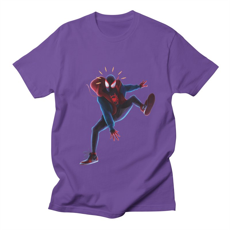 Miles into the Spider-Verse Women's Regular Unisex T-Shirt by Laurie's Artist Shop