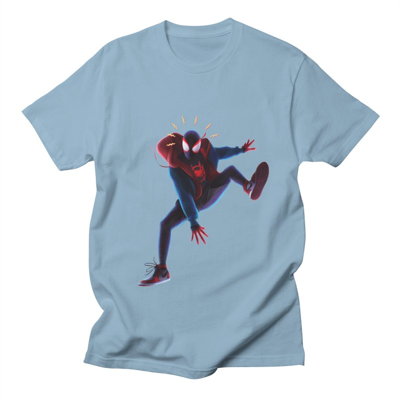 Miles into the Spider-Verse Men's Regular T-Shirt by Laurie's Artist Shop