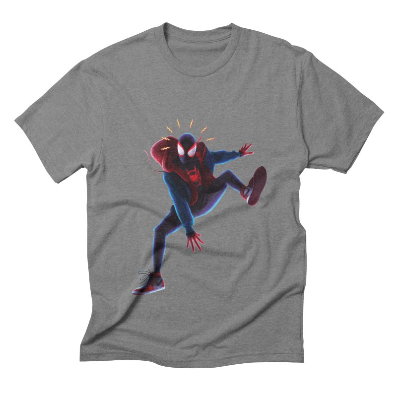 Miles into the Spider-Verse Men's Triblend T-Shirt by Laurie's Artist Shop