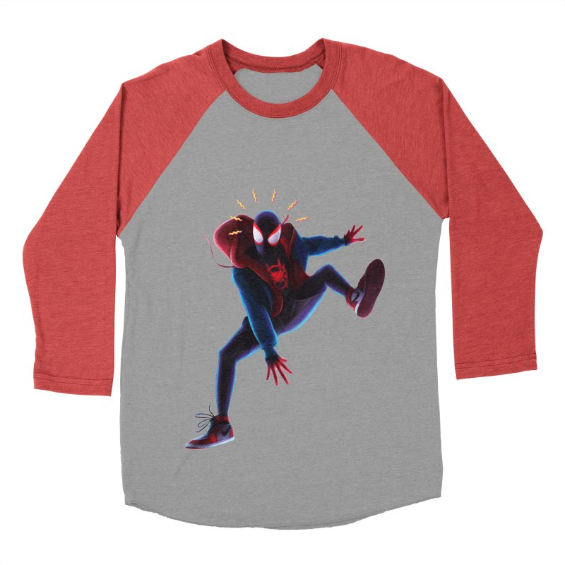 Miles into the Spider-Verse Women's Baseball Triblend Longsleeve T-Shirt by Laurie's Artist Shop