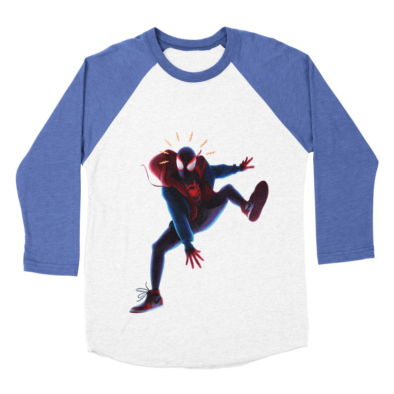 Miles into the Spider-Verse Men's Baseball Triblend Longsleeve T-Shirt by Laurie's Artist Shop